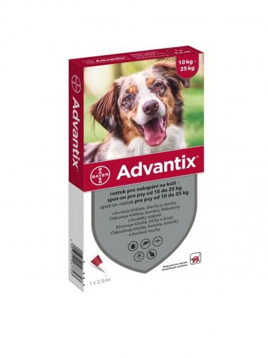 Advantix spot on pro psy 10-25 kg 1x2.5 ml