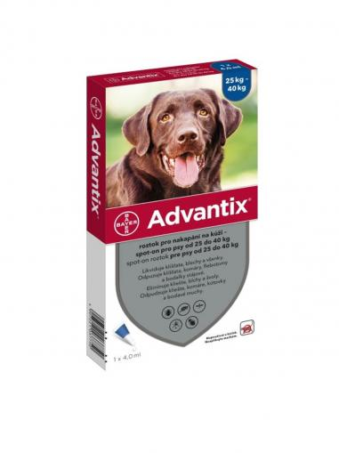 Advantix spot on pro psy 25-40 kg 1x4 ml