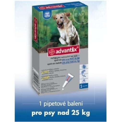 Advantix spot on pro psy nad 25 kg 1x4 ml
