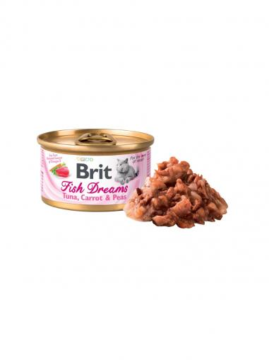 Brit Konzerva Cat Fish Dreams Tuna, Carrot & Peas 80 g