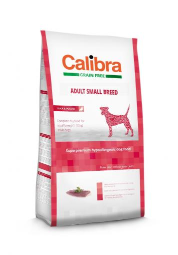 Calibra Dog Adult Small Breed Duck Grain Free 7 kg +2 kg ZDARMA
