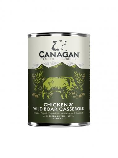 Canagan Dog konzerva Chicken & Wild Boar Casserole 400 g