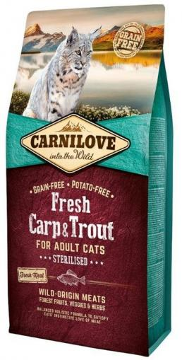 Carnilove Cat Fresh Carp & Trout for Sterillized Cats 6 kg