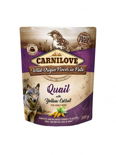 Carnilove Dog Pouch Paté Quail with Yellow Carrot 300 g