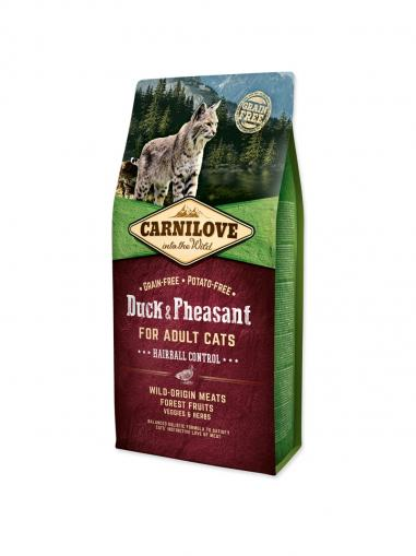 Carnilove Duck & Pheasant for Adult Cats Hairball Control 6 kg