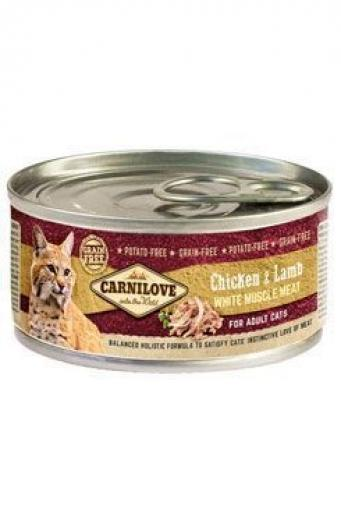 Carnilove konzerva White Muscle Meat Chicken+Lamb Cats 100 g