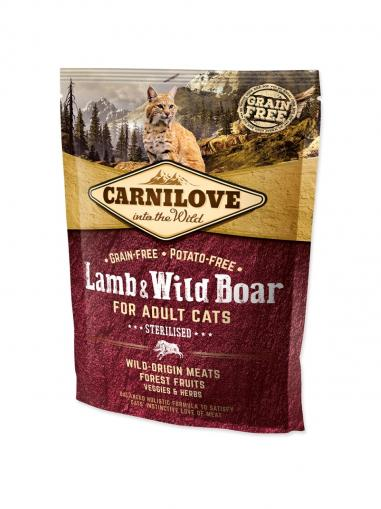 Carnilove Lamb & Wild Boar for Adult Cats Sterilised