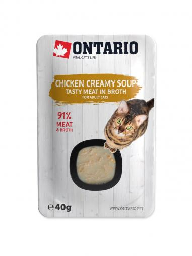 Ontario Cat Soup Chicken & Cheese with rice 40 g