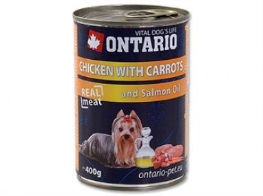 Ontario konzerva Chicken, Carrots, Salmon Oil 400 g