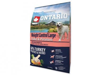 Ontario Large Weight Control Turkey & Potatoes 2,25 kg