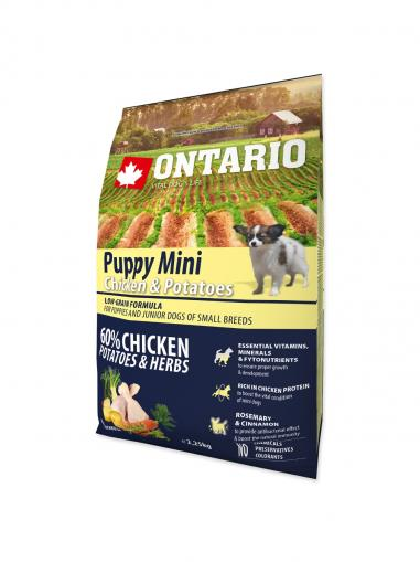 Ontario Puppy Mini Chicken & Potatoes & Herbs 2,25 kg