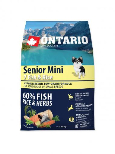 Ontario Senior Mini Fish & Rice 2.25 kg