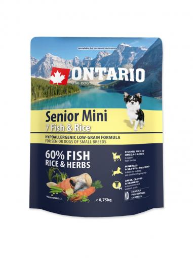 Ontario Senior Mini Fish & Rice 750 g