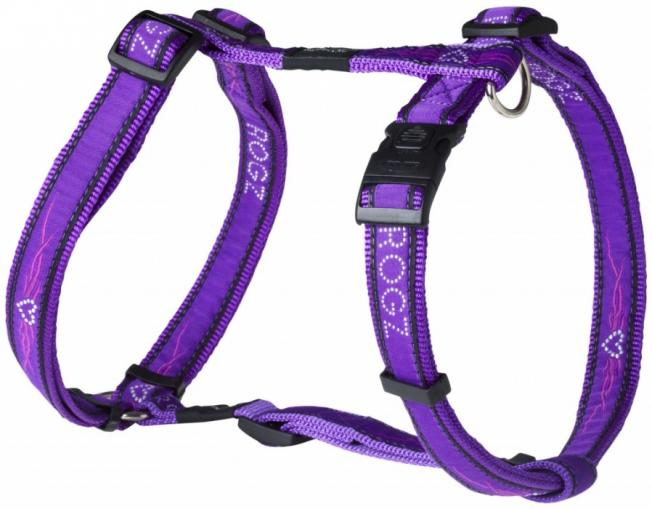 ROGZ postroj Armed Response Purple Chrome 60-100 cm/25 mm