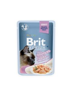 Brit Premium Cat Delicate Fillets in Gravy with Salmon for Sterilised 85 g
