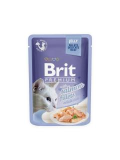 Brit Premium Cat Delicate Fillets in Jelly with Salmon 85 g