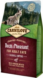 Carnilove Duck & Pheasant for Adult Cats Hairball Control 2 kg