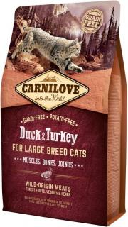 Carnilove Duck & Turkey for Large Breed Cats Muscles 6 kg