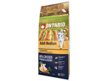 Ontario Adult Medium Chicken & Potatoes 15 kg +5 kg ZDARMA